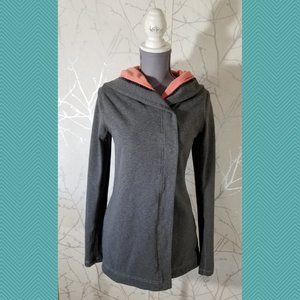 Lululemon Gray French Terry Hooded Awareness Wrap